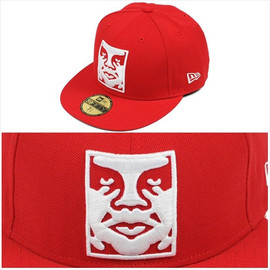 OBEY - OBEY NEWERA ICON SNAPBACK RED-WHITE