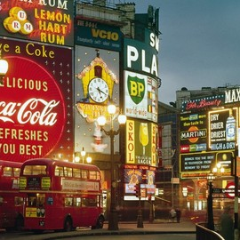 Piccadilly Circus, London around 1960's