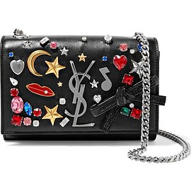 Saint Laurent - Monogramme Kate small embellished textured-leather shoulder bag