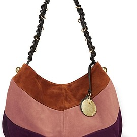 See by Chloé - Madie large suede and leather shoulder bag