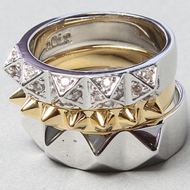 nOir - The Stacked Stud Ring