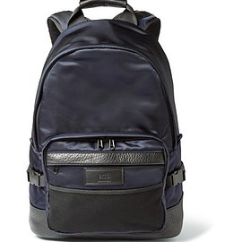 AMI - Leather-Trimmed Nylon Backpack