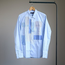 COMME des GARCONS HOMME - P/W Long Sleeve Stripe Shirt #sax mix