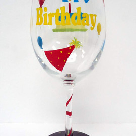 pendragon art works - Birthday Wine Glass