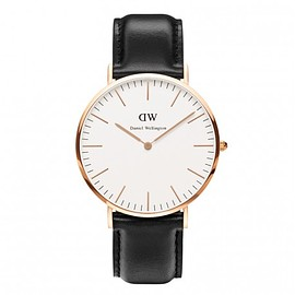 Daniel Wellington - Classic Sheffield, 40mm Rose Gold, Black