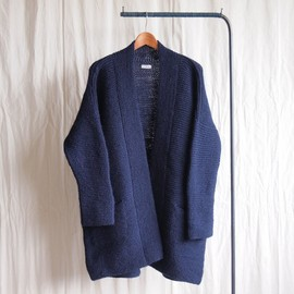jujudhau - Knit Gown - hand knit #navy