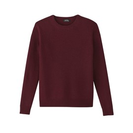A.P.C. - CREW NECK PULLOVER IN WOOL AND CASMERE