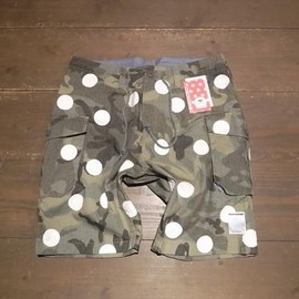 ♥CHICKENNOT - UNTOLDXCKNNT。SARROUEL DOT CAMO SHORT。GREEN。