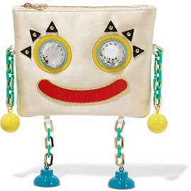 Charlotte Olympia - Metal Molly embellished satin clutch