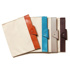 hobo - Paraffin Coated Canvas #10 Memo Cover with Shade Leather