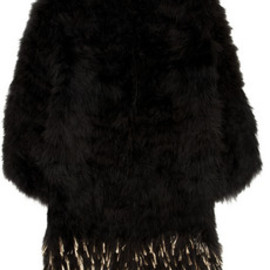 miu miu - Metallic-flecked feather coat