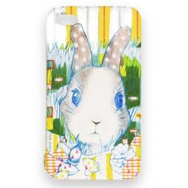 "D[di:] - ""The rabbit gaze at you"" iPhone case (for iPhone4・4S)"