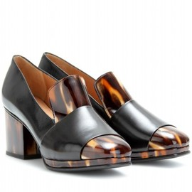 Dries Van Noten - LEATHER LOAFER PUMPS WITH HORN-EFFECT TRIM