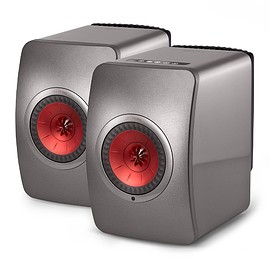 KEF - LS50 Wireless - Titanium Grey/Red