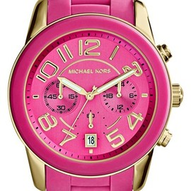 MICHAEL KORS - 'Mercer' Chronograph Silicone Strap