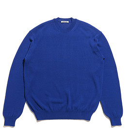 AURALEE - Cotton Polyester Code Knit P/O-Blue