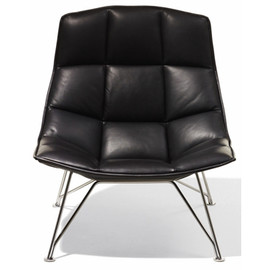knoll - Jehs+Laub Wire Base Lounge - Leather