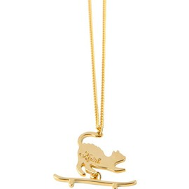 X-girl - X-girl×Aquvii  SK8 CAT NECKLACE|ゴールド