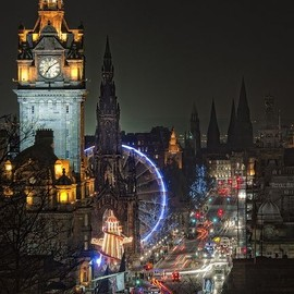 Edinburgo - Portraits of Cities at Night  ,Edinburgo.