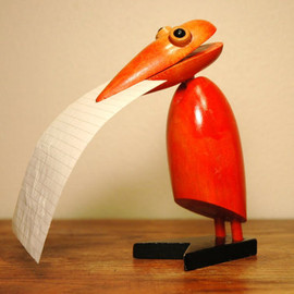Danish Modern Teak Bird Figurine