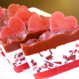 "Luulla - Glycerin Soap - ""A Slide of Love"" Glycerin Soap with sugar crumbs embedded"