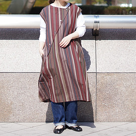 ENGINEERED GARMENTS - Tunic Dress-Cotton Variegated Stripe-Brown
