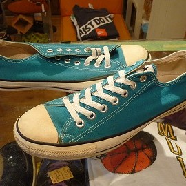 "converse - 「<used>90's converse ALLSTAR OX tarquoise""made in USA"" size:US9(27.5cm) 7800yen」販売中"
