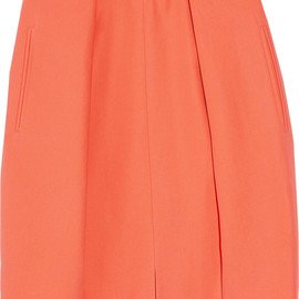 CARVEN - pleated cotton-canvas mini skirt