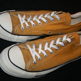 "CONVERSE - 80's ALL STAR ""GOLD"" CANVAS  OX   MADE IN USA"