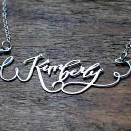 brevity. - the calligraphy necklace