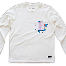 NADA. - Chill rat long-sleev Tee / White