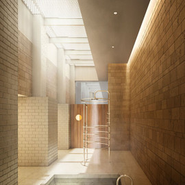 Shigeru Ban - Bathroom, Cast Iron Bldg, New York