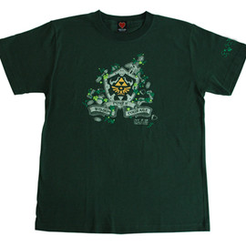 THE KING OF GAMES - ゼルダ25周年記念Tシャツ(forest green)