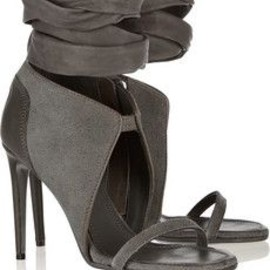 Rick Owens - Suede and leather sandals