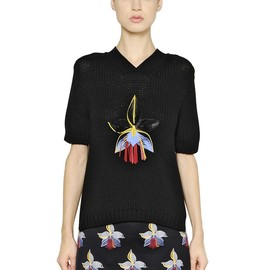 FENDI - SS2015 ORCHID EMBELLISHED COTTON SWEATER
