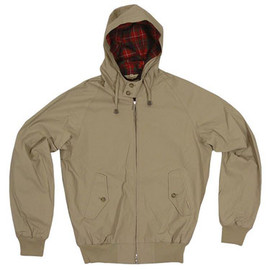 BARACUTA - vintage fit hooded G9 Harrington jacket