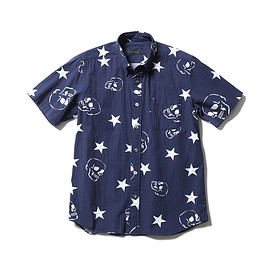 SOPHNET. - SKULL STAR COTTON RAYON B.D SHIRTS