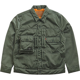 LEVI'S, PORTER - Type II Tracker Jacket - Sage Green/Orange