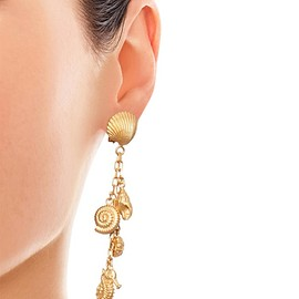 VALENTINO - SS2015 Shell and seahorse drop earings