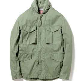 nonnative - TROOPER JACKET - COTTON ARMY CLOTH WITH WINDSTOPPER® 2L OVERDYED