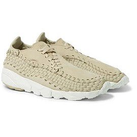 Nike - NikeLab Air Footscape Nubuck and Woven Mesh Sneakers