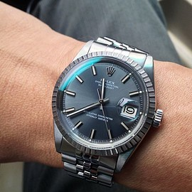 ROLEX - Datejust Wide Boy (Fat Boy) Grey Dial