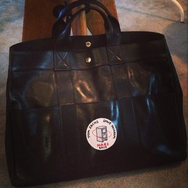 HERMES - Leather Fourre Tout with Tom Sachs MARS Patch