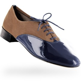 Repetto - Oxford shoe Zizi Goatskin suede and Patent leather