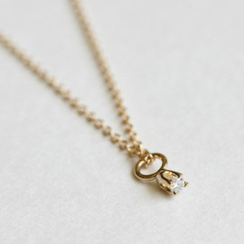 Ginette NY - tiny bell diamond on chain ネックレス