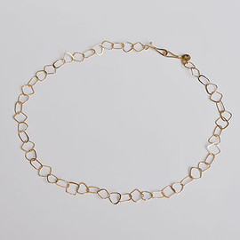 Melissa Joy Manning - Square, Triangle and Oval Half Flat Chain Necklace