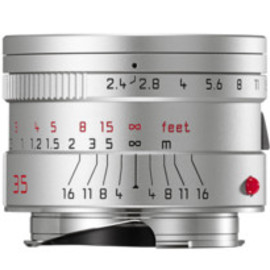 Leica - SUMMARIT-M 35 mm/f2.4 ASPH silver anodized finish