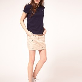 LACOSTE - Lacoste Live Swallow Embroidered Skirt