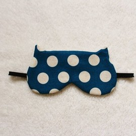 Dots Printed Cotton Cat Sleep Mask