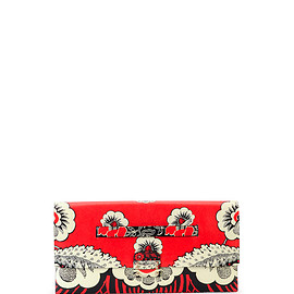 VALENTINO - SS2015 Floral-Print Covered Clutch Bag, Red Multi